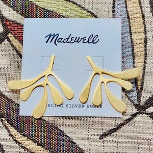 Madewell Abstract Palm Vermeil Stud Earrings